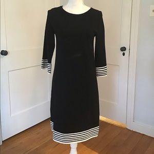 Boden Black and White Dress